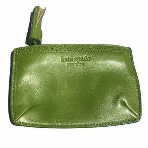Kate Spade coin card purse green with tassel